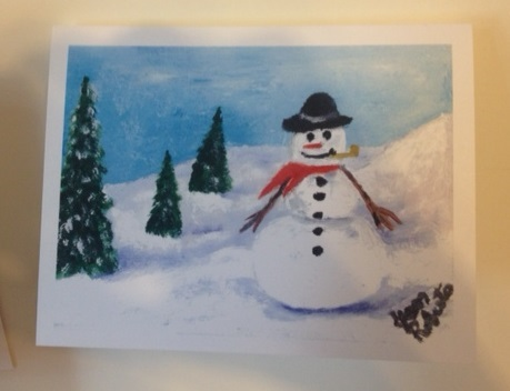 J l clay offers hand painted holiday cards franklin for Painted christmas cards