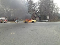 BREAKING: Car fully engulfed, no injuries