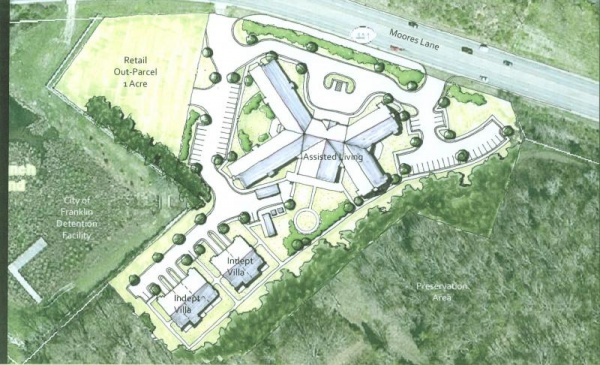 Luxury senior living center proposed on Moores Lane