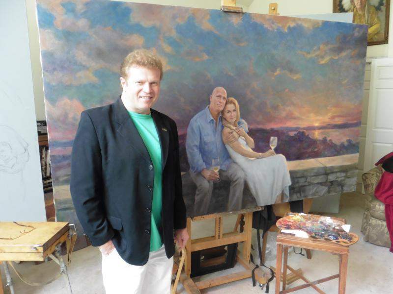 World-renowned Brentwood portraitist's works have their own tales