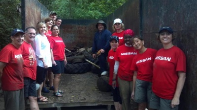 Nissan lawyers start Harpeth River cleanup