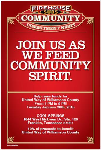 United Way sponsoring Community Commitment Night tomorrow