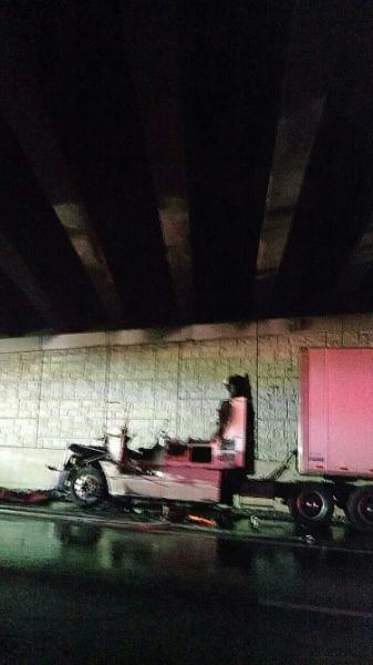 UPDATE: Truck collision on I-65 southbound driver uninjured; will cause short term delays