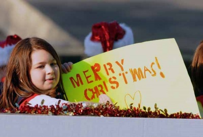 Christmas Parade, and candy, a hit with residents
