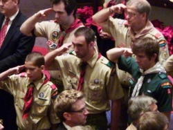 Scouts give 'Billy Jim' a final salute