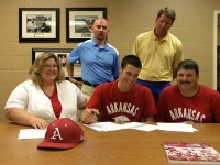 BHS pitcher Ray signs pro contract