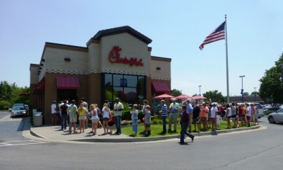 Locals turn out in support of Chick-Fil-A