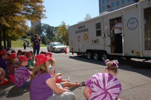 Fire Safety House educating 1st graders on fires