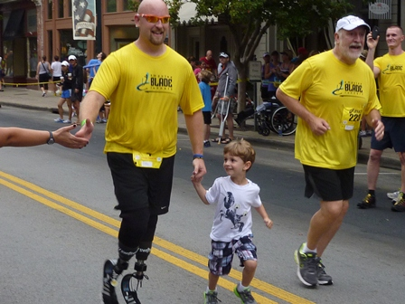 Amputee Blade Runners helping others find their 'strong'