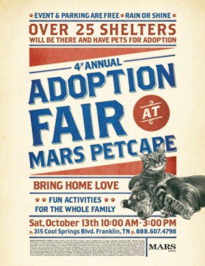 MARS Petcare Adoption Fair offers dogs and cats ready for new homes