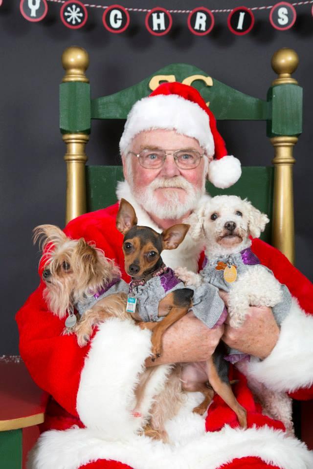 Santa, Darrell Waltrip team up for pet adoptions, photos
