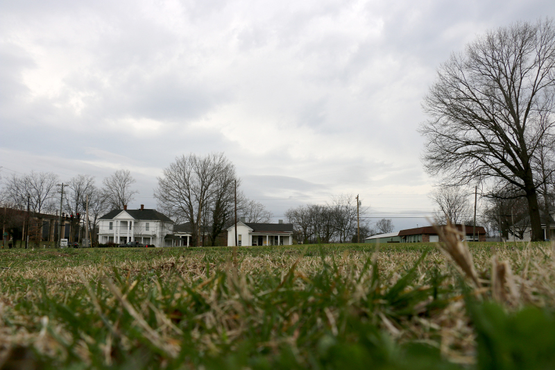 Proposed trails, parking up for discussion for Carter Hill Battlefield Park