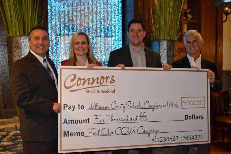 Connors restaurant donates $5,000 to Williamson County Schools