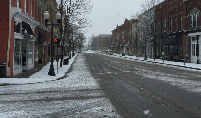 What businesses are open and closed from Friday's snow