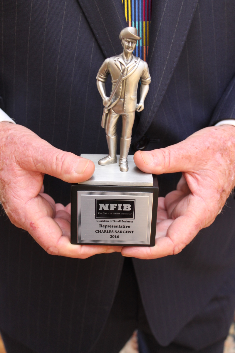 Rep. Charles Sargent earns NFIB small business award