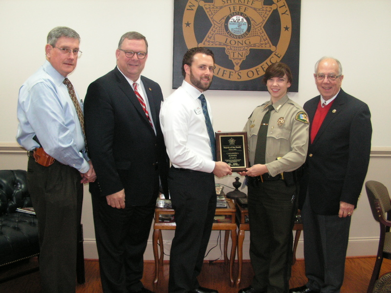 Deputy honored for helping to save suicidal jail inmate's life