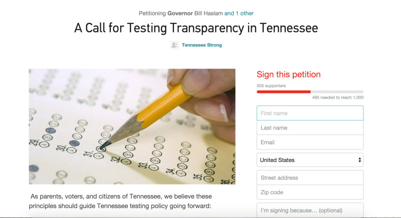 TCAP confusion prompts Williamson Strong, other groups' petition