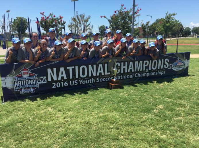 Tennessee Soccer Club U18 girls win national title