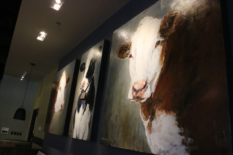 Tupelo Honey: biscuits and cow art