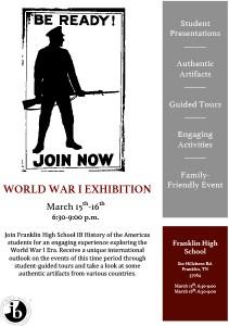 Franklin High School to host World War I exhibition