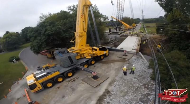 TDOT releases time-lapse video of Old Hickory Boulevard replacement