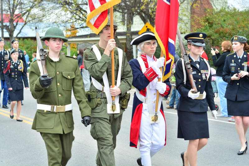 Veterans Day parade lining up in Franklin