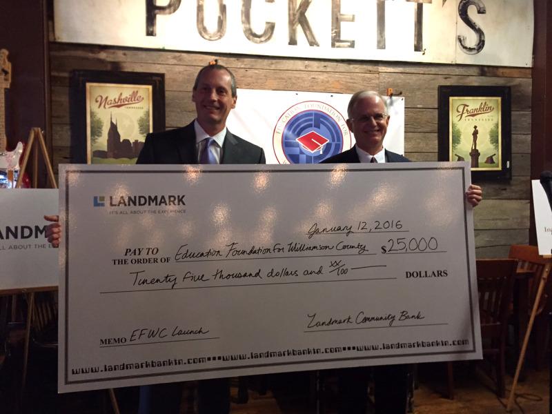 Landmark Bank commits $25,000 to Education Foundation